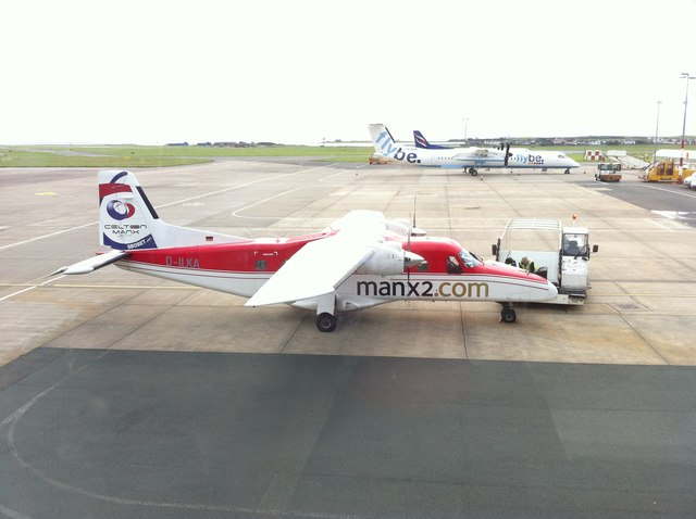 D-ILKA at Ronaldsway Airport