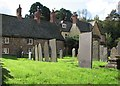 SK7011 : Ashby Folville: houses by the churchyard by John Sutton