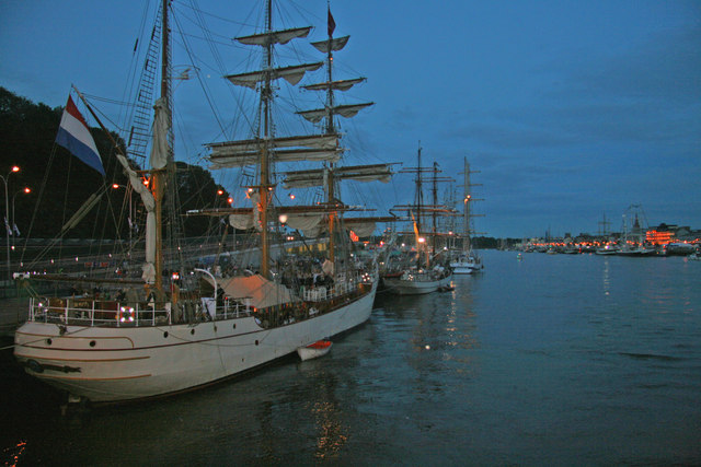 Tall ships at Waterford's North wharf