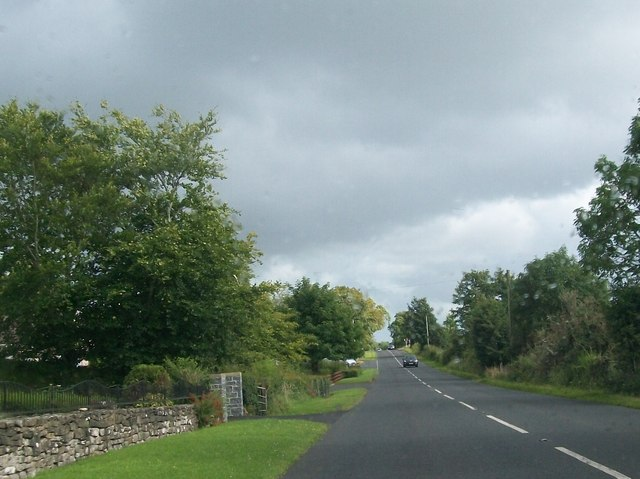 View south along the B82 in Drummal Townland