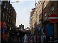 TQ3382 : View along Sclater Street from Brick Lane #2 by Robert Lamb