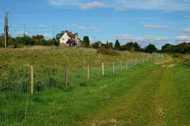View Towards Pinglestone Cottages, Alresford, Hampshire