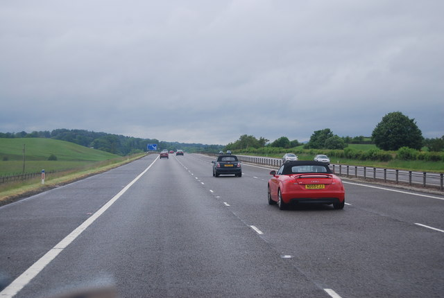 Long straight section of the A74(M)