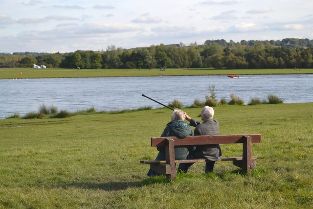 Mature couple at Rother Valley Lake