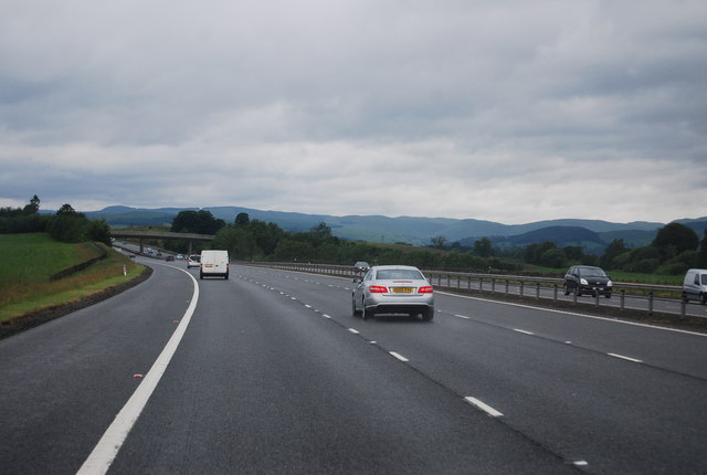A74(M), northbound
