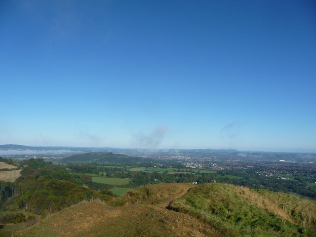 View to Gloucester from Kimsbury hillfort on Painswick Beacon