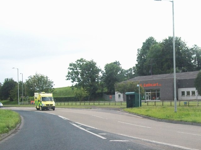 An ambulance on the northern end of the Irvinestown Road, Enniskillen