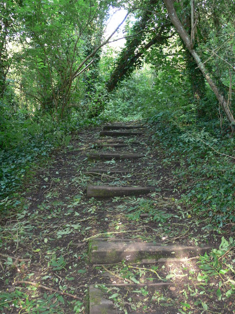 Steps beside the railway line