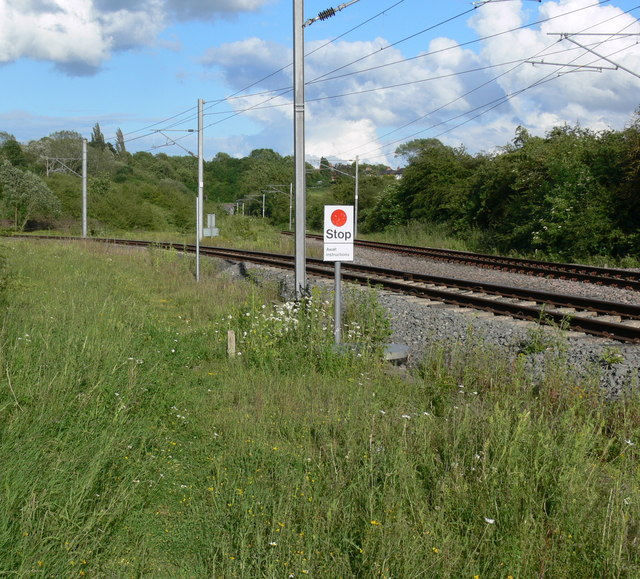 Railway lines at Asfordby Valley