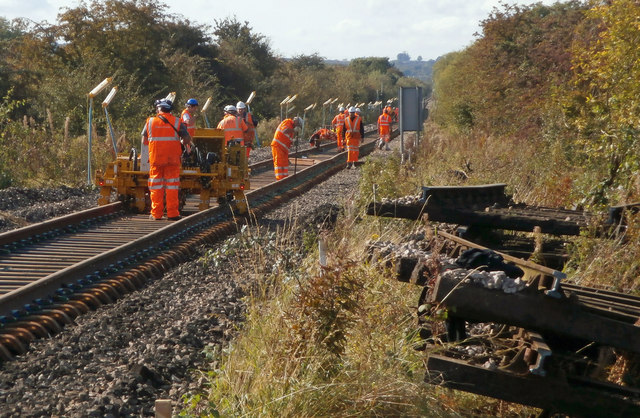 Track Renewal near Barrow Haven Station