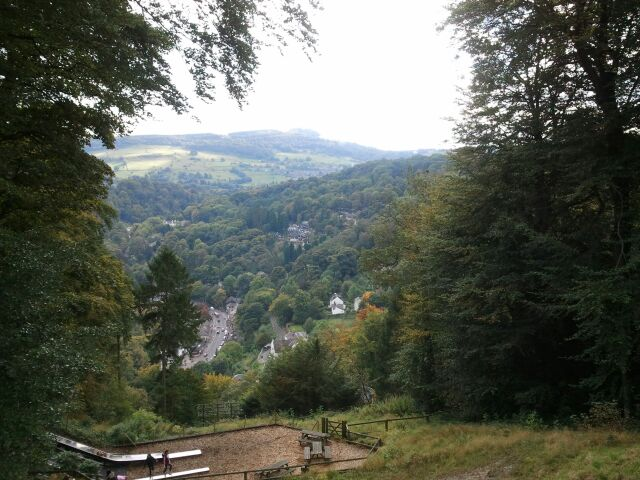 View over Matlock Bath from the Heights of Abraham