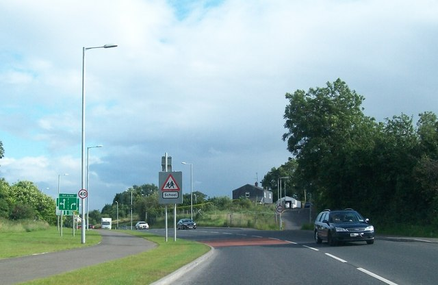 Minor road junction on the A32 (Irvinestown Road)