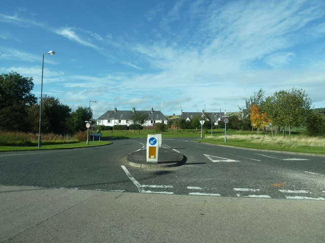 Entering Melrose from the A6091