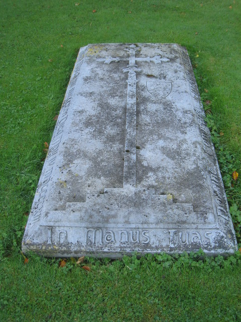 The burial slab of Sir Tatton Sykes II (1826 - 1913)