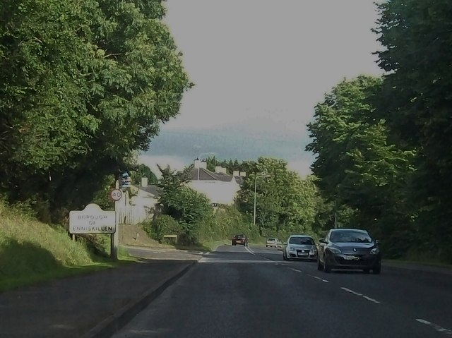 Entering the Borough of Enniskillen along the Irvinestown Road