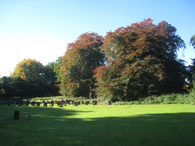 Autumn colour in Sledmere churchyard