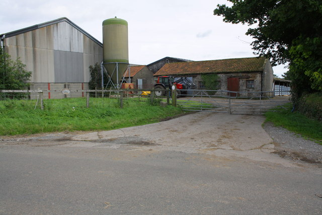 Entrance to Hallwith Farm from Hallwith Road