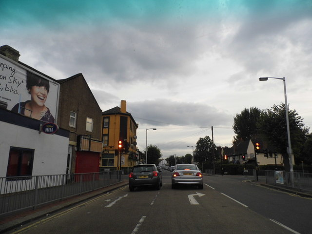 Green Lane at the junction of Northwood Road