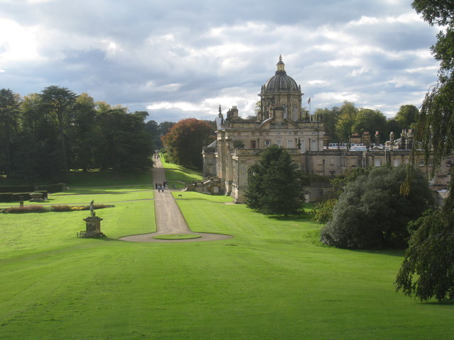Looking down on Castle Howard