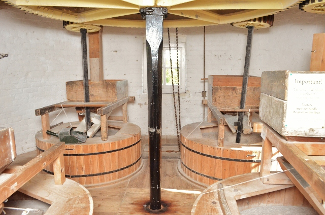 Alford Windmill - stone floor