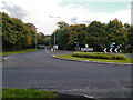 SK0581 : A624 Roundabout, Chapel-en-le-Frith by David Dixon