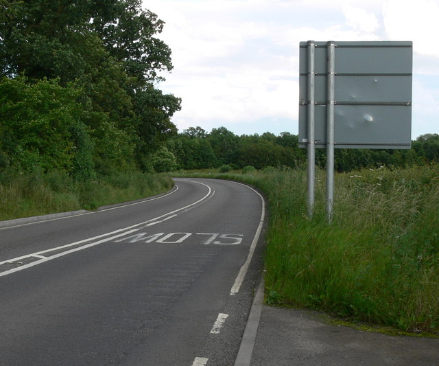 Looking east along the A6006