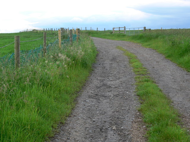 Farm track near the A6006