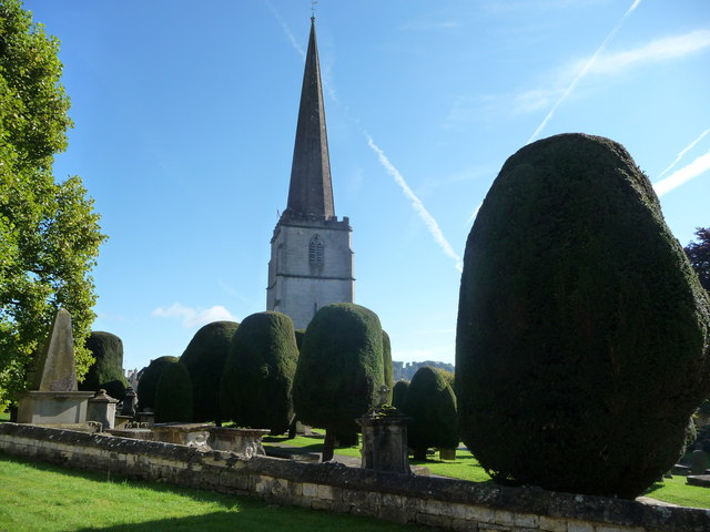 Some of the churchyard yews, St. Mary's, Painswick