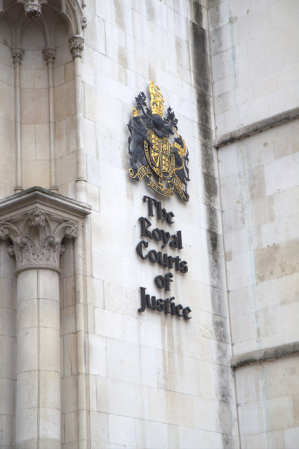 Coat of Arms on the Royal Courts of Justice, London EC4