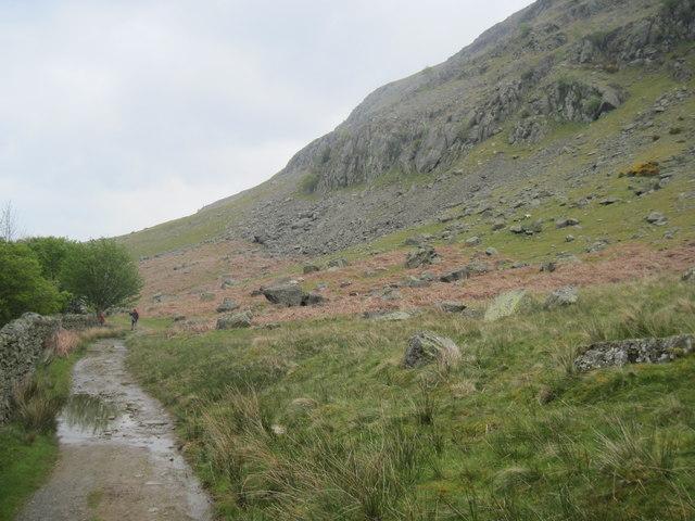 Bridleway  below  Auterstone  Crag