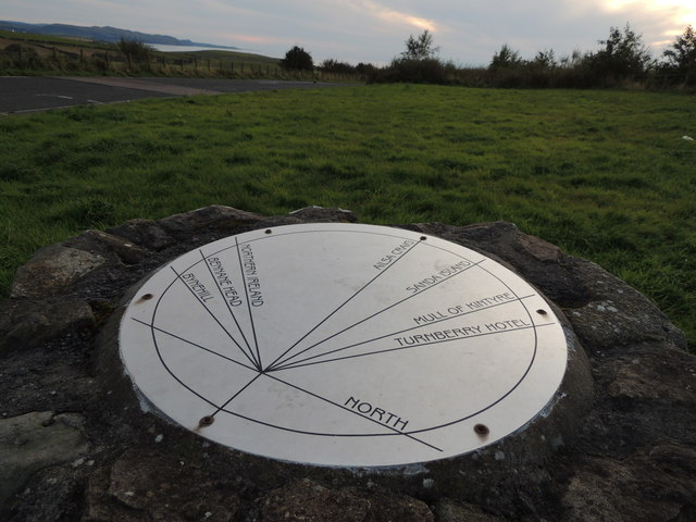 Viewpoint with Direction Indicator near Turnberry