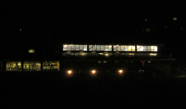 Sports hall by night, Torquay