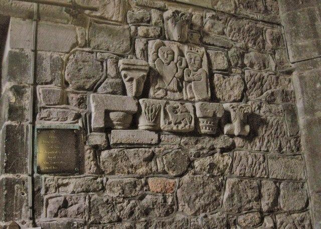 Ancient wall carvings wirksworth parish derek voller
