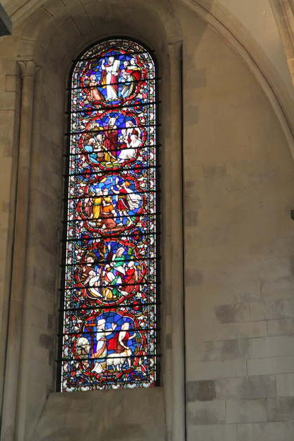 Stained Glass Window, Temple Church, London EC4