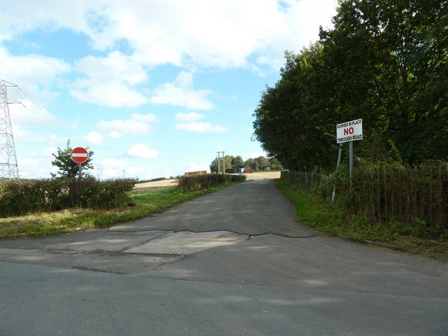 Road from Windle Hall Farm