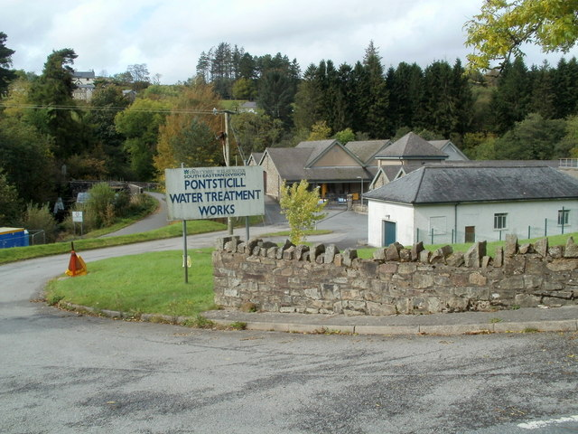 Entrance to Pontsticill water treatment works