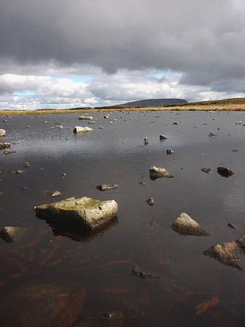 Moorland tarn, Murton Fell