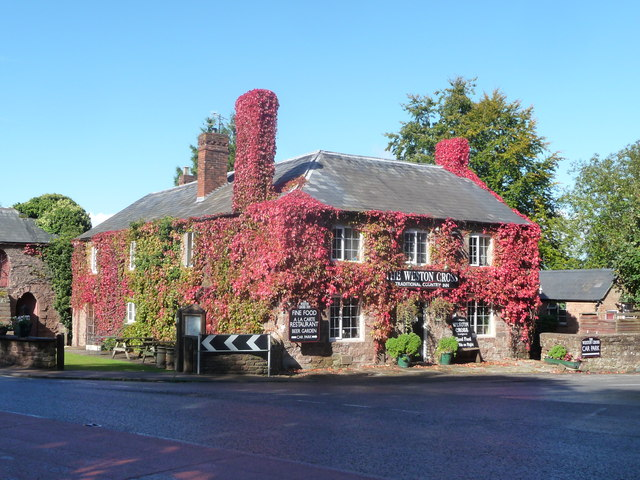 The Weston Cross in autumn colours