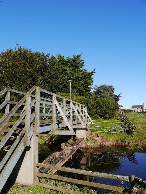 Footbridge Over The Blackadder Water