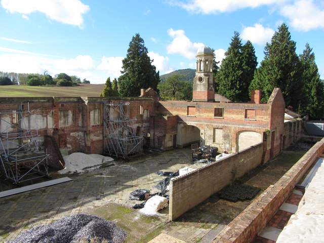 Stable yard, Witley Court