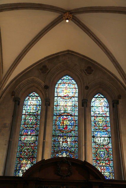 Stained Glass Window above Altar, Temple Church, London EC4