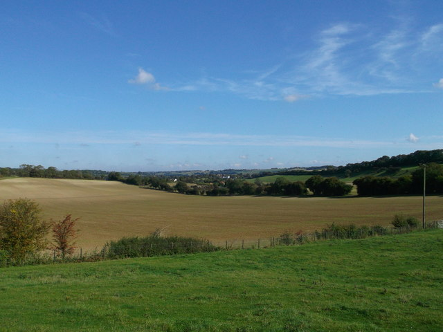 View towards Lyminge