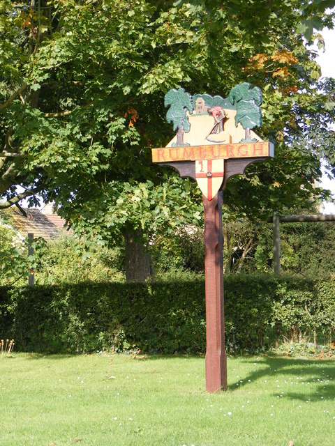 Rumburgh Village sign