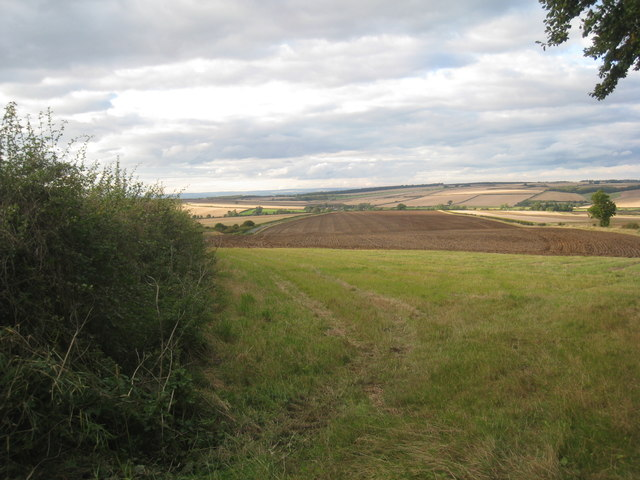 Wolds view above Duggleby