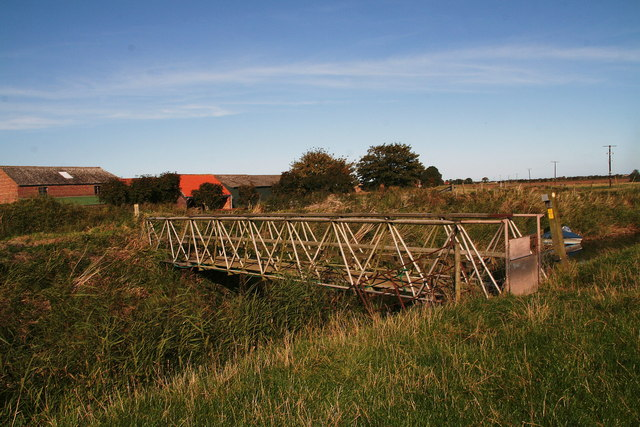 Bridge over the Long Eau by Manor Farm