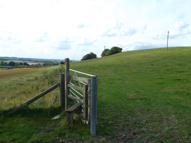 North Downs Way towards Postling Downs