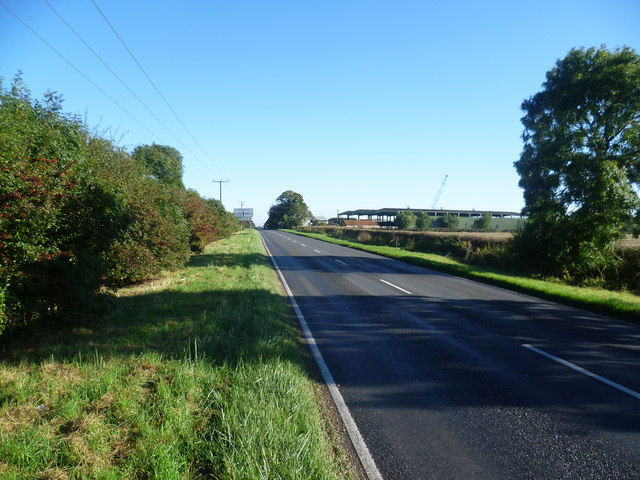 Somersham Road near Hill Farm