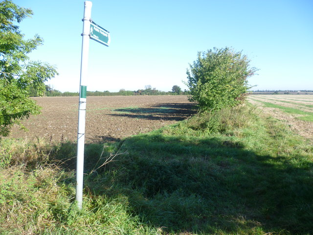 Footpath across the fields