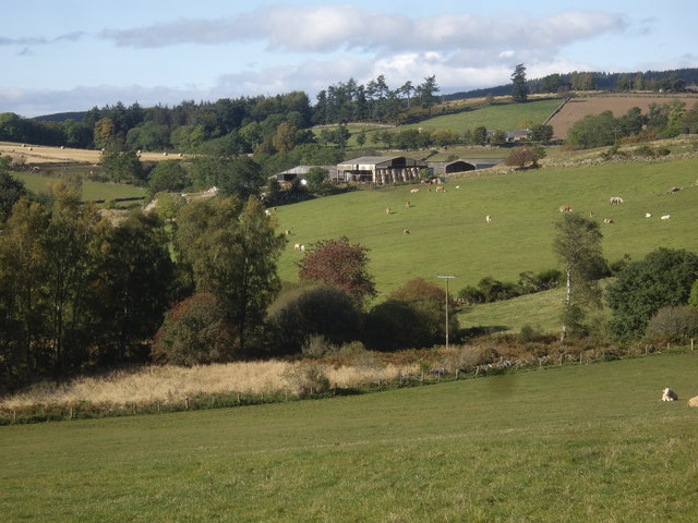 View towards Fordie steadings