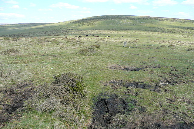 Boundary north of Western Beacon